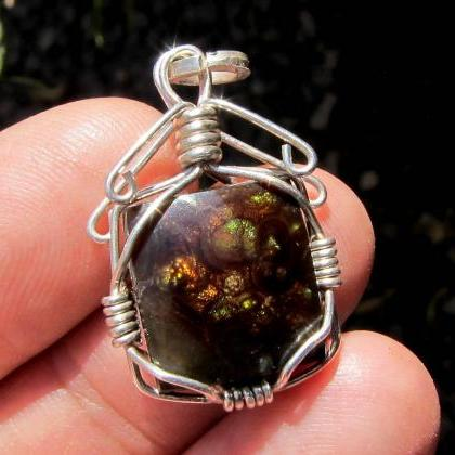 agate pendant agate necklace mexica..