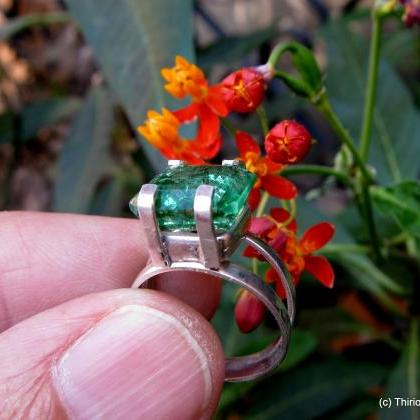 emerald ring natural emerald colomb..