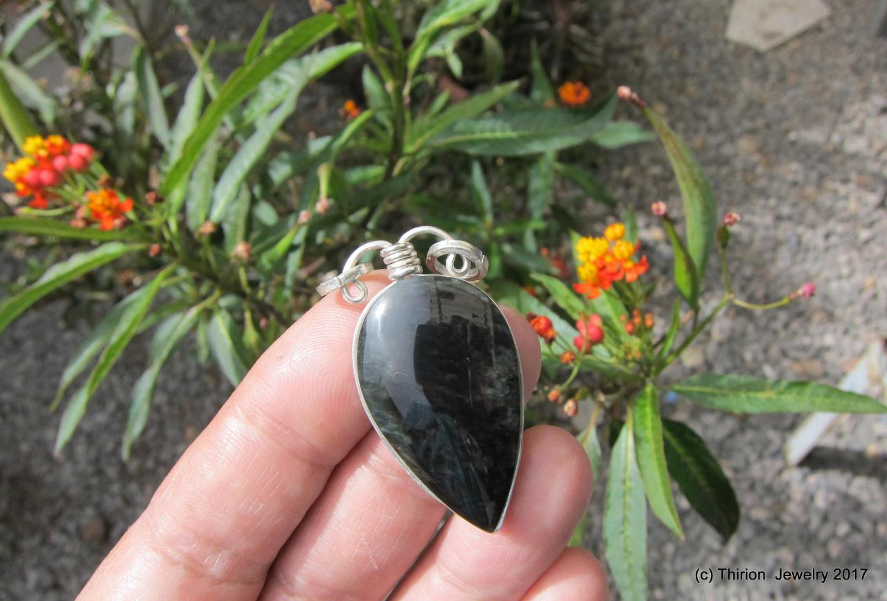obsidian necklace obsidian pendant gemstone jewelry