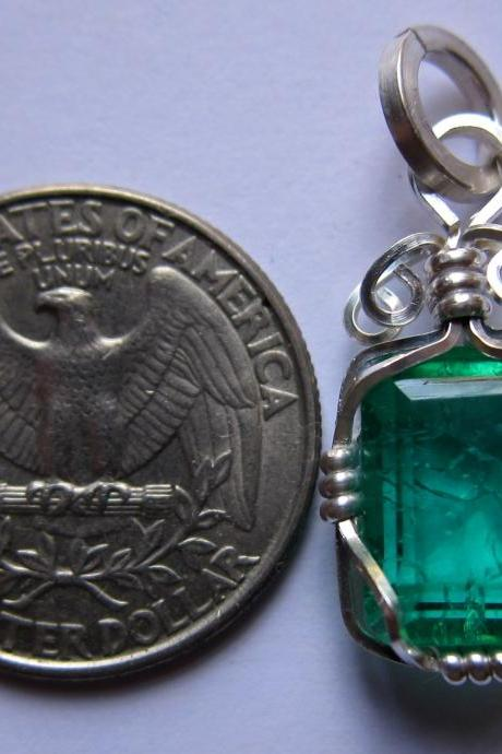 emerald pendant genuine emerald emerald necklace