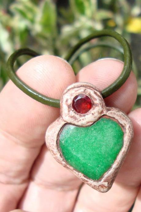 emerald heart pendant emerald necklace