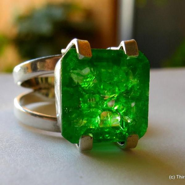 emerald ring colombian emerald
