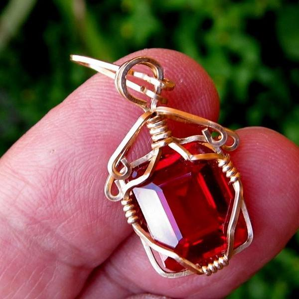 natural ruby ruby pendant ruby necklace ruby jewelry boho jewelry boho chic